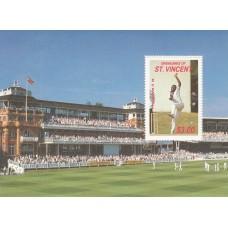 1988 St Vincent Grenadines $3.00 Cricket Miniature Sheet