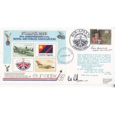AC73aA 50th Anniv RAF Association Signed W S O Randle & L Munro 617 Sqn