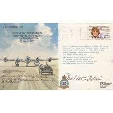 Introduction of Boeing B.29 renamed The Washington 1, Signed Brig Gen P Tibbets