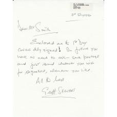 .  Letter Signed by G Stevens 151 & 213 Sqn's Pilot Battle of Britain