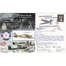 RAFA10 Battle of Britain Major Assault Signed 4 Battle of Britain,Pilots,Crew,W