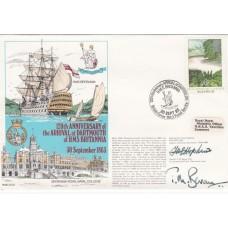 120th Anniv of Arrival at Dartmouth of HMS Britannia Double Signed Admiral Hopki