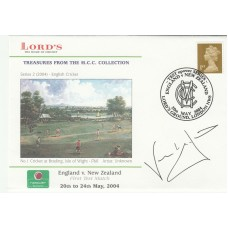 2004 Lords Cover England v New Zealand Signed by Nasser Hussain  20th may 2004