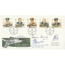 1986 RAF FDC Signed by 11 Battle of Britain Pilots, Crew, WAAF & WW11 Pilots