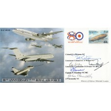 JS(CC)50h 80th Anniv of the RAF Air To Air Refuelling  signed by 5 VC's holders