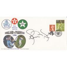 1996 ENGLAND v PAKISTAN 1ST TEXACO TEST MATCH COVER SIGNED BY SHOAB AKTHAR