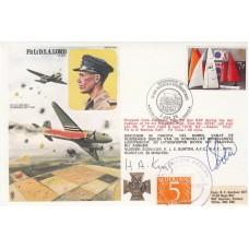 HA11cA   Flt LT Lord Arnhem Signed King & Drew  Orginal 5c Nederlands Stamp.
