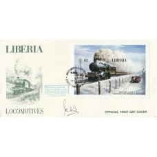 Liberia Locomotives $2 Min sheet Signed J Coiley,head National Railway Museum