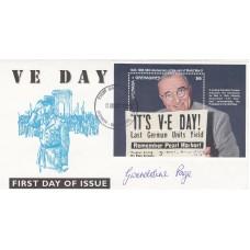 1995 VE Day FDI Grenada Grenadines  Signed Gwendoline Page ex WRNS - Bletchley P