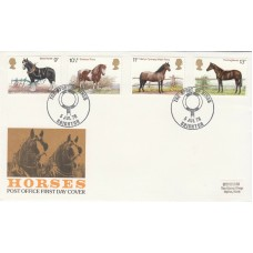 1978 Horses Full Set with Special Horses of Britain  Brighton Special  Postmark