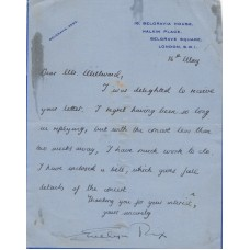 1959 Letter from Evelyn Rix   Solo Pianoforte