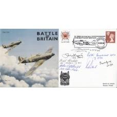 JS(CC)55a7 58th Anniv Battle of Britain Signed 10 Battle of Britain Pilots Crew