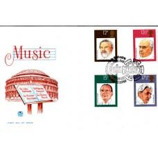 1980 British Conductors Full Set Special Postmark Royal Philharmonic Orchestra
