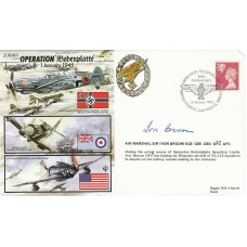/50/45/1 50th Anniv  of Operation Bodenplatte Signed Air Marshal Sir Ivor Broom