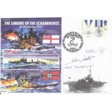 Piece Signed by Matthias Putz  & John Wass  HMS Scorpion