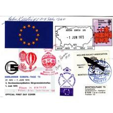 1 Jun 1973 BFPS 1373 Iserlohner Europa – Tage Flown in Rocket, Balloon Signed
