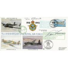 (75)15 75th Anniv 101 Sqn by  Sir Ranulph Fiennes Ex SAS Regiment Plus B of B Pi