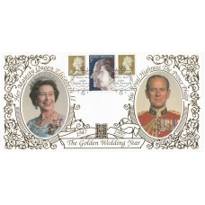 1997 Benham 22ct Real Gold Cover The Golden Wedding Year ,