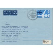 HA6 RAF Museum Air Letter Flown in Domine pilot Sqn Ldr M J Baker.