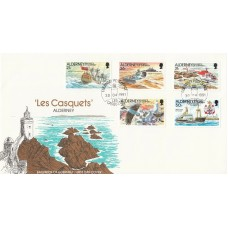 1991  Alderney  Les Casquets  Full Set of Stamps Official FDC